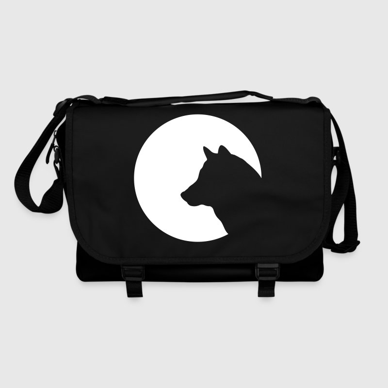 Wolf circle moon moonlight symbol dog 1c - Shoulder Bag