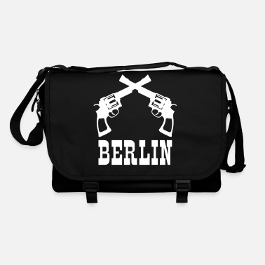 Berlin pistols Western font - Shoulder Bag