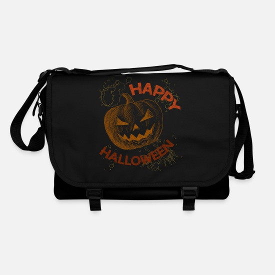 Halloween T Shirt Bags & Backpacks - Halloween - Happy Halloween - Shoulder Bag black/black