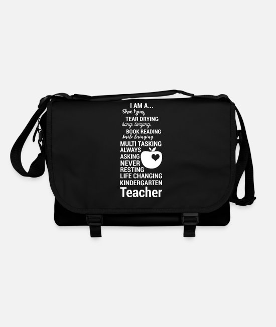 Aunt Bags & Backpacks - Kindergarten Teacherin - Educator - Gift - Shoulder Bag black/black