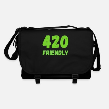 420 2018 420 Friendly - Grass Ween Kiffen hemp gift - Shoulder Bag