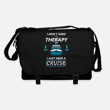 Cruise Cruise cruise ship therapy saying funny - Shoulder Bag
