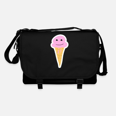 Sweet ice cream ice cream globe strawberry ball with face - Shoulder Bag