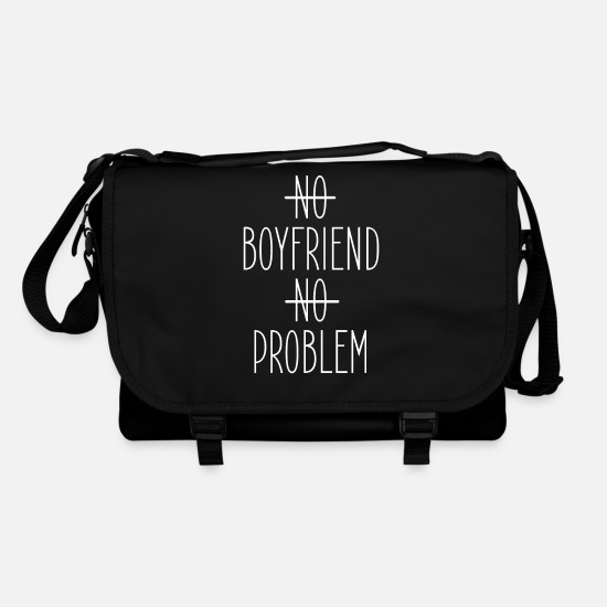 Girlfriend Bags & Backpacks - No boyfriend no problem - Shoulder Bag black/black