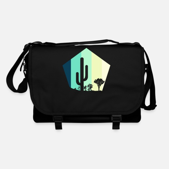 Gift Idea Bags & Backpacks - Cactus desert steppe retro - Shoulder Bag black/black