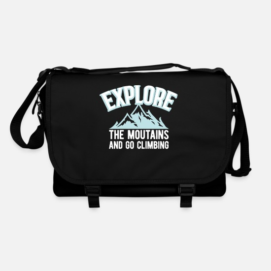 Love Bags & Backpacks - Mountains mountaineering mountaineer mountains climbing - Shoulder Bag black/black