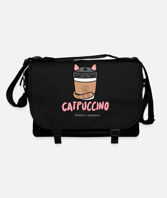 Tabby Bags & Backpacks - Cat - puccino .... gourmet coffee - Shoulder Bag black/black