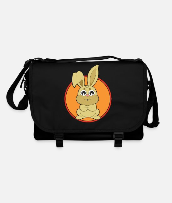 Grandson Bags & Backpacks - Cute animals bunny rabbit - Shoulder Bag black/black