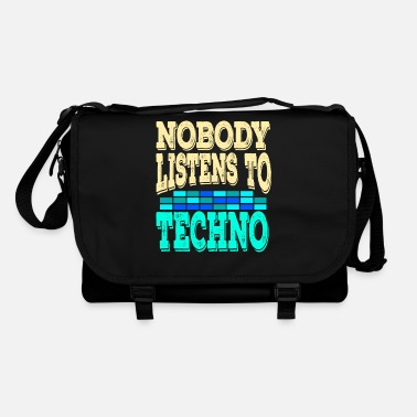 "Attendance List ""Nobody Listen To Techno"" tee design. Makes a - Shoulder Bag"