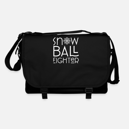 Game Bags & Backpacks - Winter snowball game Snow snowball fight - Shoulder Bag black/black