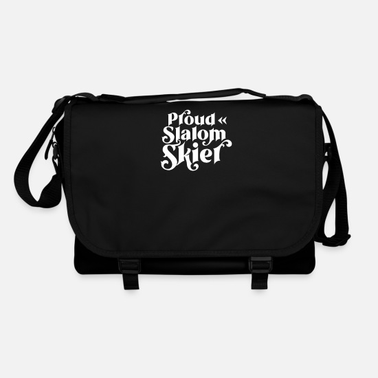 Gift Idea Bags & Backpacks - Ski race slalom skiing skier skiing slalom winter - Shoulder Bag black/black