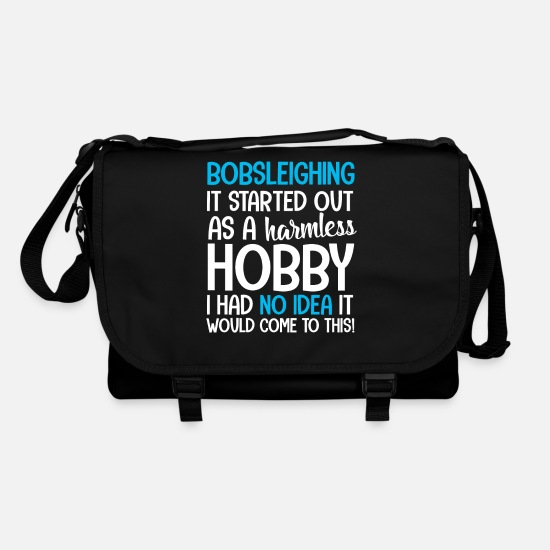Birthday Bags & Backpacks - Bobsleigh Bobsleigh Bobsled Bob Bobsleders Tobogganing - Shoulder Bag black/black