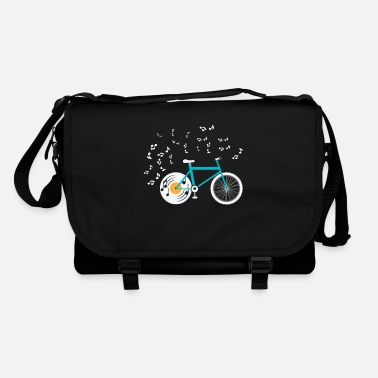 Cycling Bike Vinyl Turntable Bike Music Sheet Music - Shoulder Bag