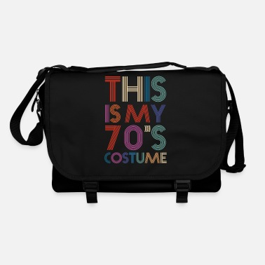 Motown 70's Costume | Colorful Letters and Lines | Disco - Shoulder Bag