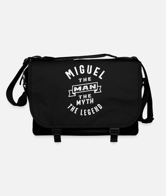 Father's Day Bags & Backpacks - Miguel Personalized Name Birthday Gift - Shoulder Bag black/black