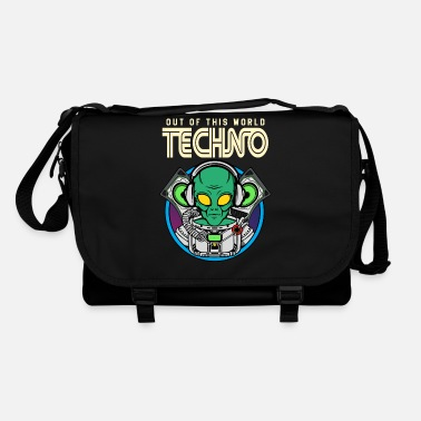 House Alien Techno Out of this World EDM Alien - Borsa a tracolla