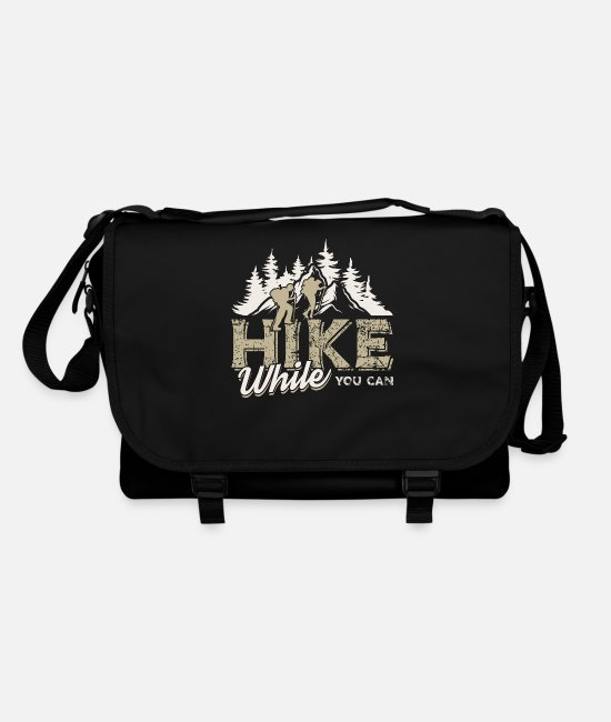 Camping Bags & Backpacks - Walk as long as you can Mountains & forest - Shoulder Bag black/black