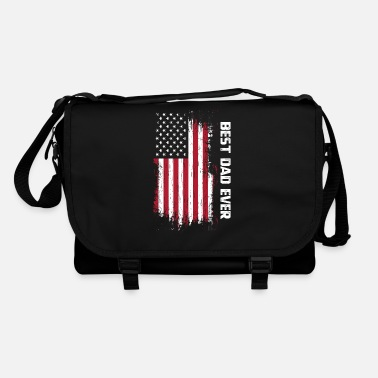Parents Vintage Best Dad Ever American Flag Father's Day G - Sac bandoulière