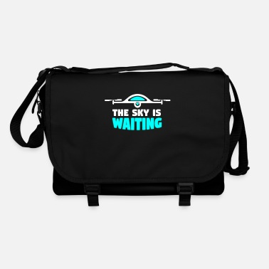 Controller Sky is waiting - drone, quadrocopter - Shoulder Bag