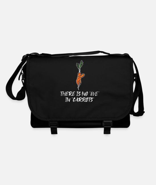 Vegetables Bags & Backpacks - Carrot vegetarian - Shoulder Bag black/black