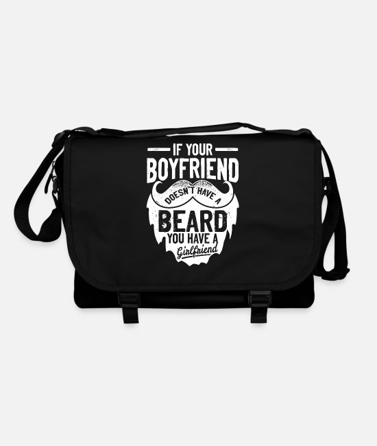 Training Bags & Backpacks - If your friend has no beard Funny & Sayings - Shoulder Bag black/black