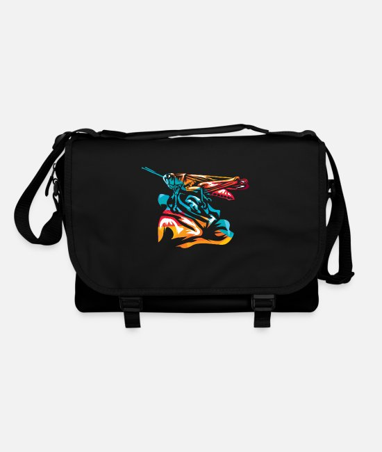 Easter Bags & Backpacks - Large swamp grasshopper - Shoulder Bag black/black