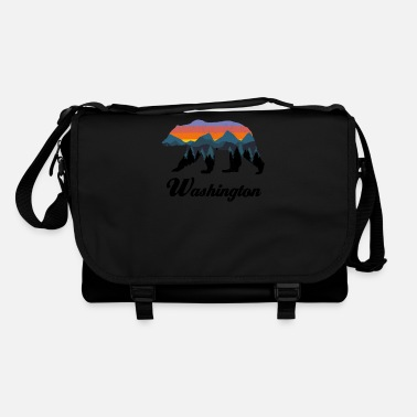 Bbq Washington Bear Colorful Mountains Proud Camping Vintage - Shoulder Bag