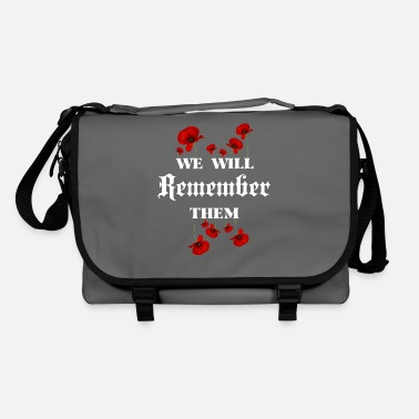 Legion Veterans Poppy We Will Remember The Fallen - Shoulder Bag
