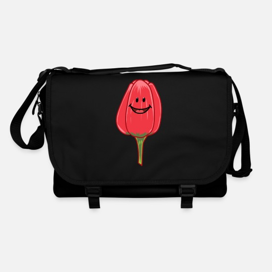 Spring Bags & Backpacks - Tulip tulips flowers spring - Shoulder Bag black/black