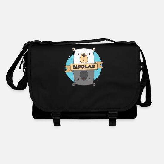 Disorder Bags & Backpacks - BiPolar Bear I Cute Mental Disorder design - Shoulder Bag black/black