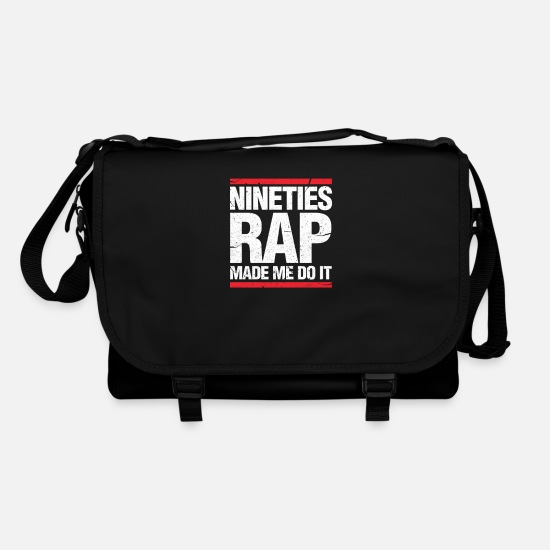 Rap Bags & Backpacks - 90s Rap 90's Hip Hop Old School Classic Gift - Shoulder Bag black/black