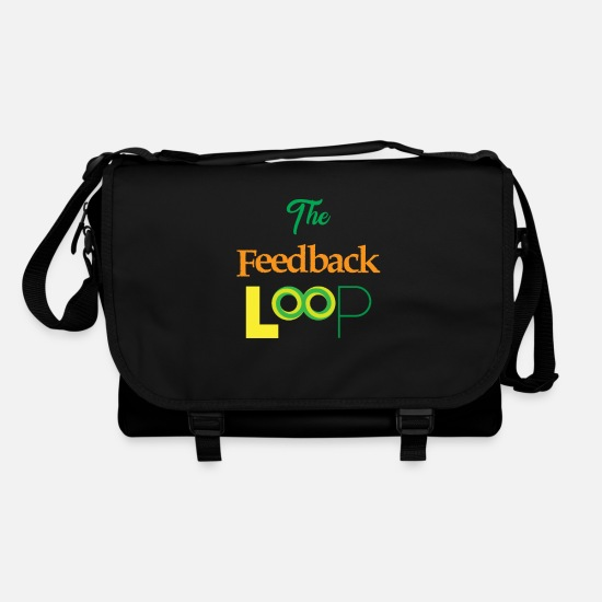 No Bags & Backpacks - Funny Feedback Tshirt Designs The feedback loop - Shoulder Bag black/black