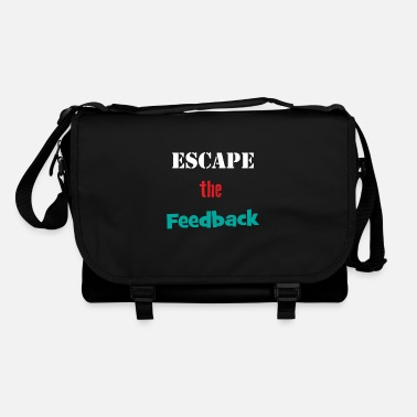 Funny Feedback Tshirt Designs Escape the feedback - Shoulder Bag