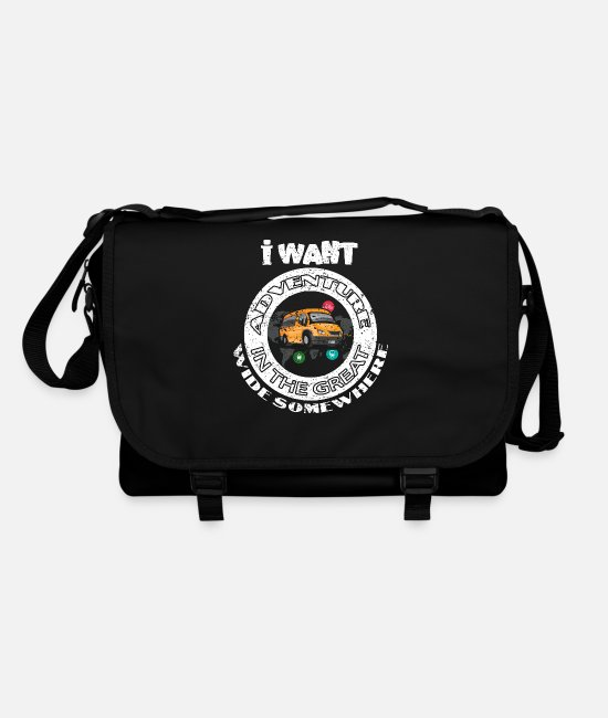 Travel Bags & Backpacks - Travel traveler traveling tourist tourist gift - Shoulder Bag black/black