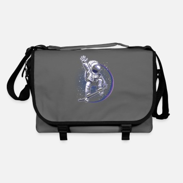 Railing Skater Astronaut Spaceman Skateboard - Shoulder Bag
