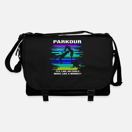 Trendsport Bags & Backpacks - Parkour backflip - Shoulder Bag black/black