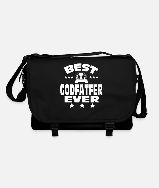 """fathers Day Present"" Bags & Backpacks - BEST GODFATHER EVER - Shoulder Bag black/black"