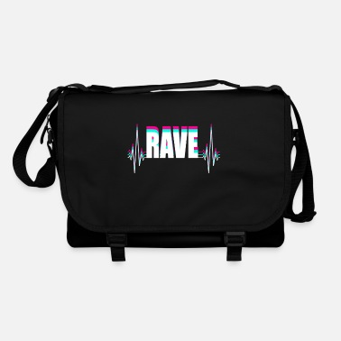 Frenchcore Techno Rave Heardbeat Design - Shoulder Bag