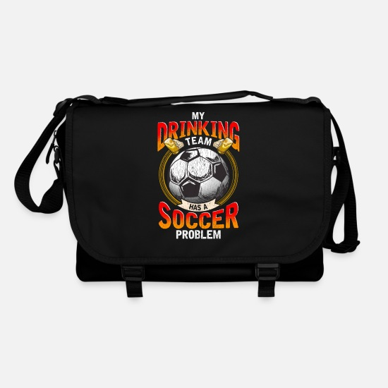Football Team Bags & Backpacks - My Drinking Team, has a problem with football - Shoulder Bag black/black