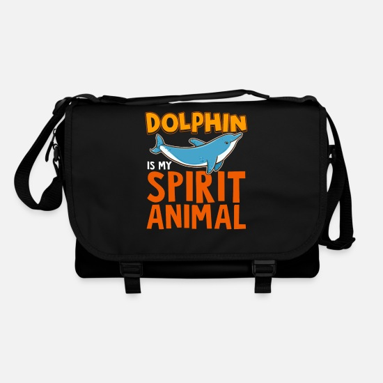 Alcohol Bags & Backpacks - The Dolphin is my Spiritual Animal - Shoulder Bag black/black