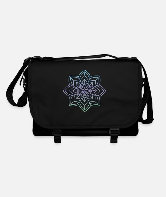 Art Bags & Backpacks - Mandala rosette circular pattern gift - Shoulder Bag black/black
