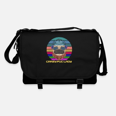 Lady Crazy Pug Lady - Shoulder Bag