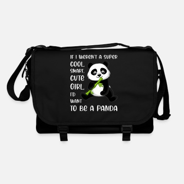 Clever Grappige Panda Lover Girl Woman Quote Saying Phrase - Schoudertas