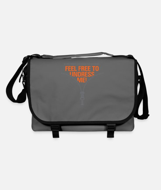 Wit Bags & Backpacks - You Do Not Like My Clothes? Undress Me! - Shoulder Bag graphite/black