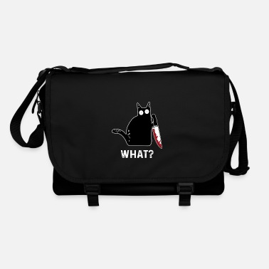 Funny killer cat What - Shoulder Bag