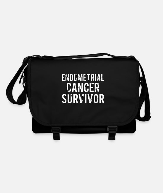 Ribbons Bags & Backpacks - Endometrial Cancer: Endometrial Cancer Survivor - Shoulder Bag black/black