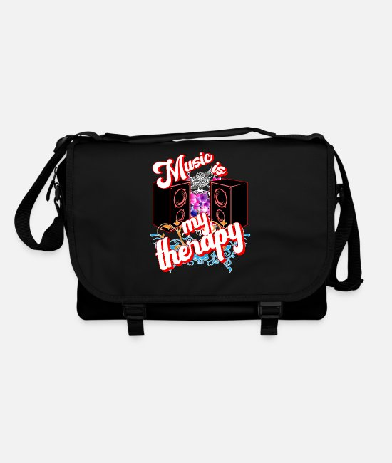 Bass Bags & Backpacks - Music is my therapy Music dance life - Shoulder Bag black/black