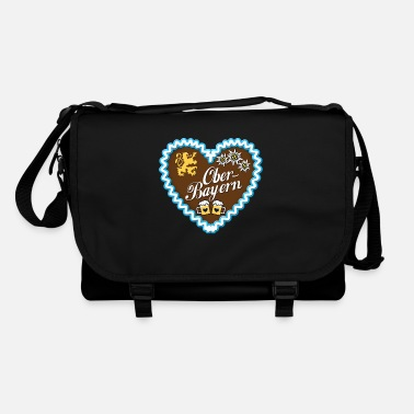 Upper Bavaria Gingerbread heart of Upper Bavaria blue lion - Shoulder Bag