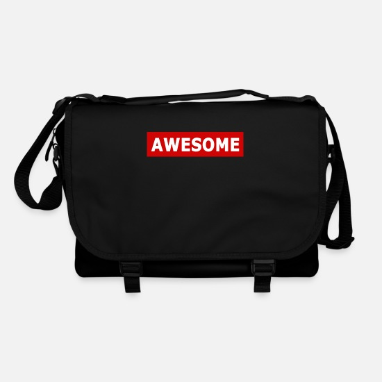 Sayings Bags & Backpacks - Awesome - Shoulder Bag black/black