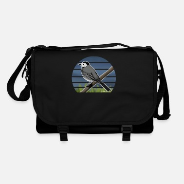 Painted Bird Painted wagtail bird design illustration - Shoulder Bag